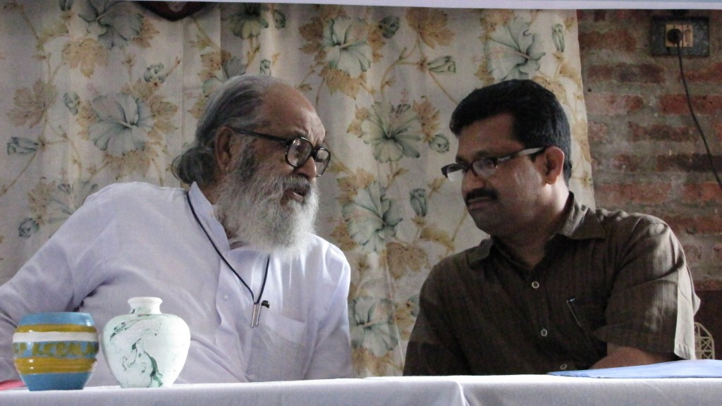 Viswanathan and Sujit Kumar Paul at the Enlightenment seminar, Feb. 2012